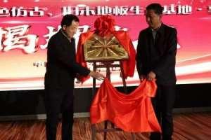"""吉林·敦化""""中国特色仿古、旧木地板生产基地""""正式揭牌逆变器产品"""